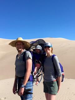 Hiking the dunes.