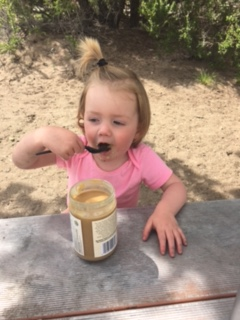 She pretty much ate this whole jar over the course of a few days.