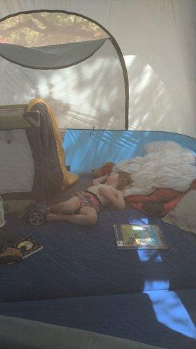 Tent nap!